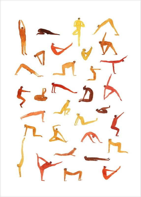 "Affiche Illustration ""Yoga Time"", poster de Marion Barraud"