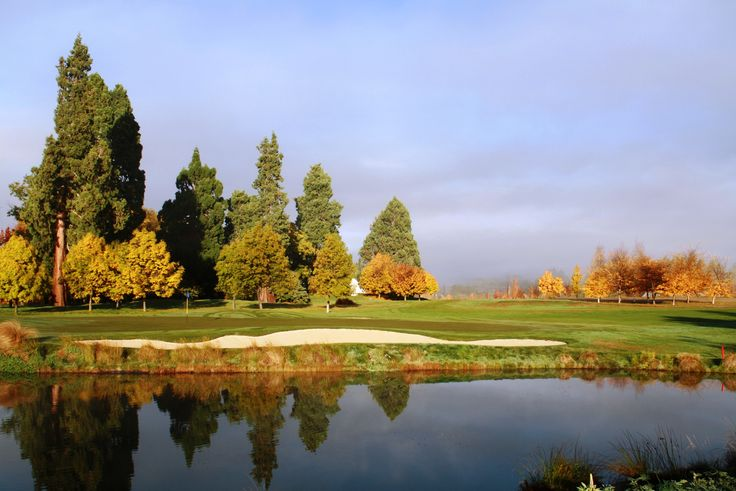 Autumn colours on a foggy morning here at Millbrook.   #foggyautumn #autumn #millbrookresort
