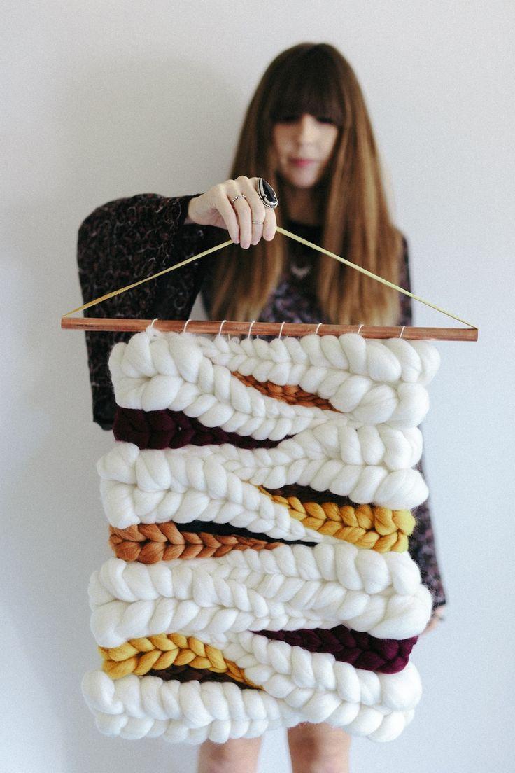 Suspension en laine chunky