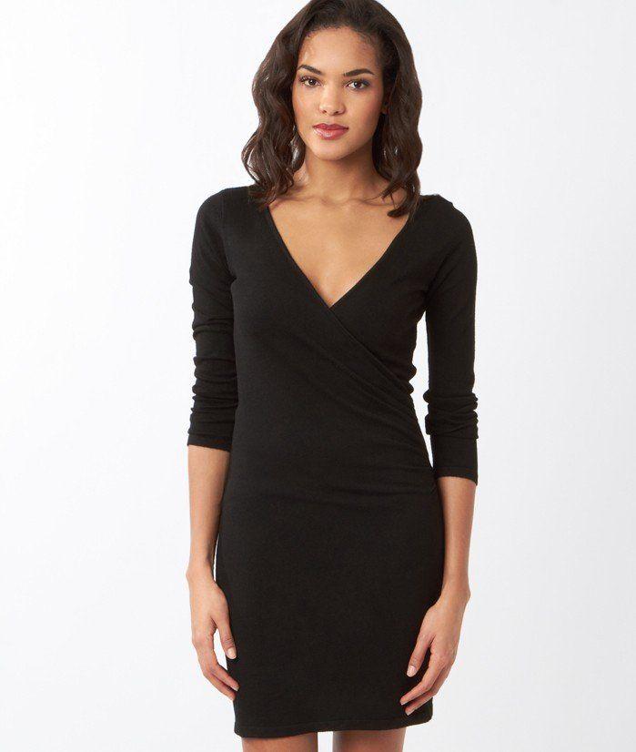 robe pull crois e mila noir etam wish list. Black Bedroom Furniture Sets. Home Design Ideas