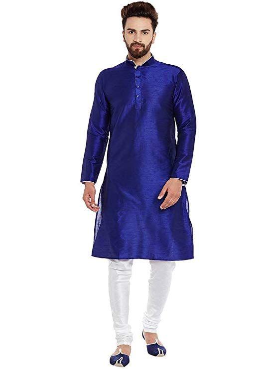 89ba76ea3d Men's Silk Kurta Pyjama Sherwani, Pajama Set, Indian Wear, Clothing  Accessories, Ethnic