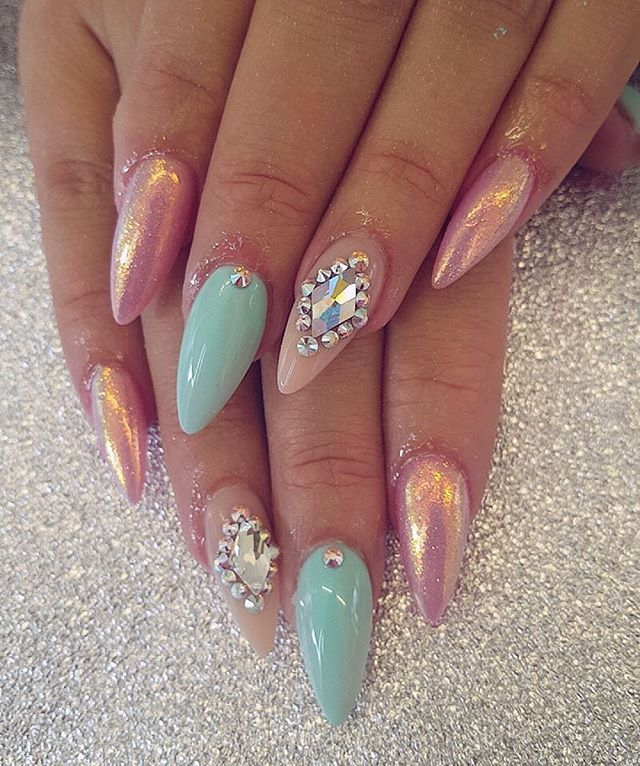 Mermaid Nails ♡ N 237 Ls ♡ Nails Mermaid Nails Glam Nails