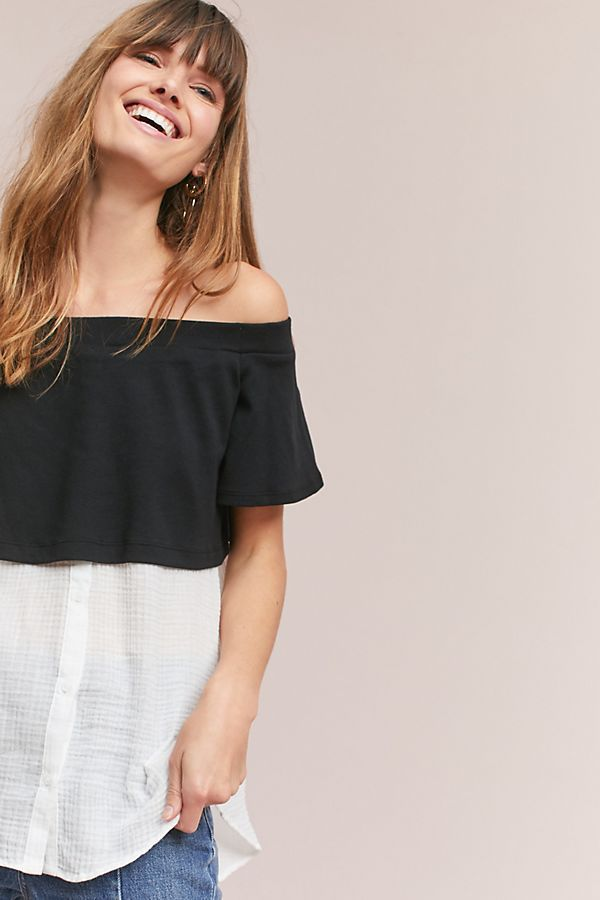 f2bf6c277976b4 Slide View: 1: Layered Off-The-Shoulder Tunic | Tops and jackets ...