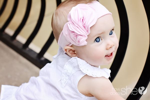 Cute headband: Diy Headband, Adorable Flowers, Headbands Tutorials, Flowers Headbands, Baby Headbands, Comfy Headbands, Baby Girls, Knits Headbands, Headbands Diy