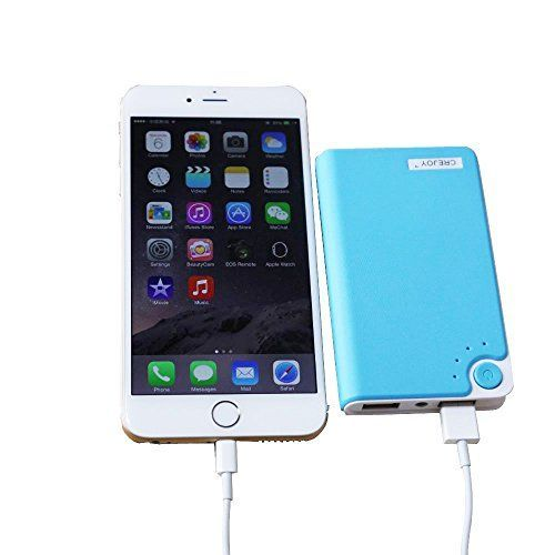 Introducing CREJOY8800mAh Aluminum Portable Power Bank External Battery Charger For Mobile phonesStrong Resistance to Heat and Hard Wearing Power Bank with High Capacity Portable Charger External Battery Power Bank for iphone ipad 2 3 4 Samsung Galaxy S6 S5 S4 HTC Nokia LG Sony Blackberry and More Smart PhonesBlue. Great product and follow us for more updates!