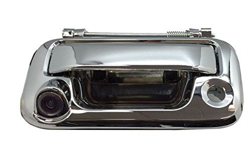 Ford F150 F250 F350 F450 Backup Camera with Tailgate Handle for Universal Monitors (RCA) (Color: Chrome) Review https://wirelessbackupcamerareviews.info/ford-f150-f250-f350-f450-backup-camera-with-tailgate-handle-for-universal-monitors-rca-color-chrome-review/