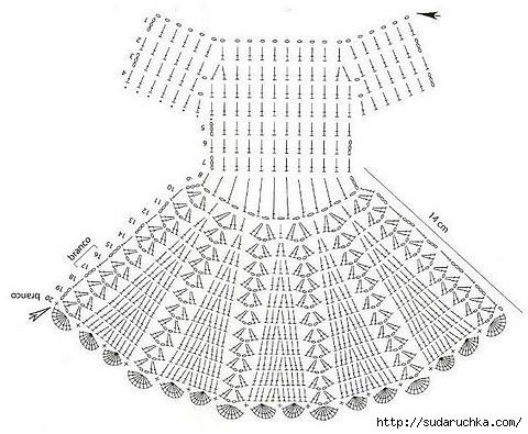24 best crochet diagram images on pinterest crochet clothes nice dress pretty pattern add a couple row and a beading row at top ccuart Images