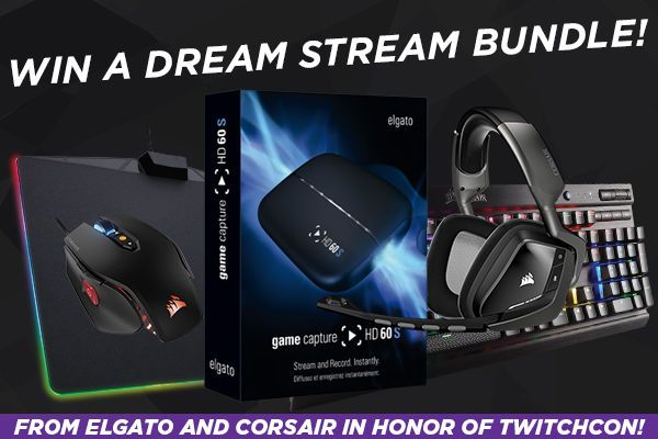 Elgato and Corsair are giving away a dream Streaming bundle in celebration of TwitchCon!