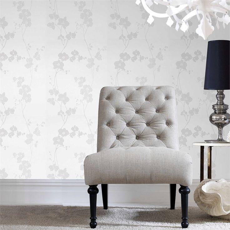 Superfresco Easy 52cm x 10m Gloria Perle White Wallpaper #floralwallpaper #nonwoven #pastethewall