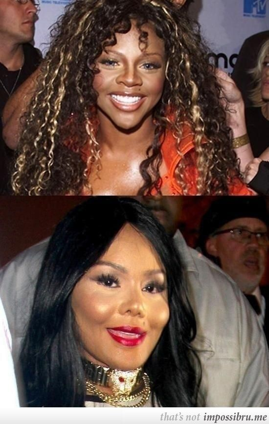 Lil Kim Before And After Plastic Surgery  Not funny, but didn't know where else to put it...What did she do to herself :(
