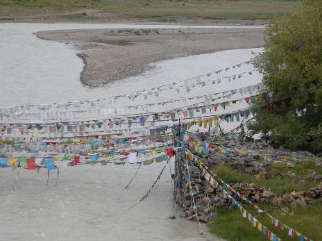 Sacred stream in Tibet