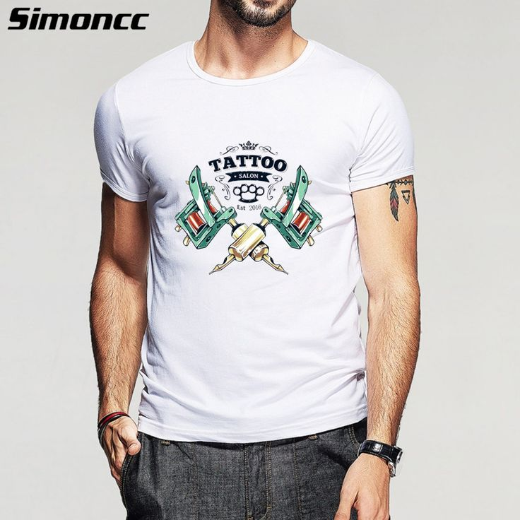2016 Hot Fashion casual cotton summer t shirt mens t shirt for man plus size male short sleeve tops tattoo cool print t shirt