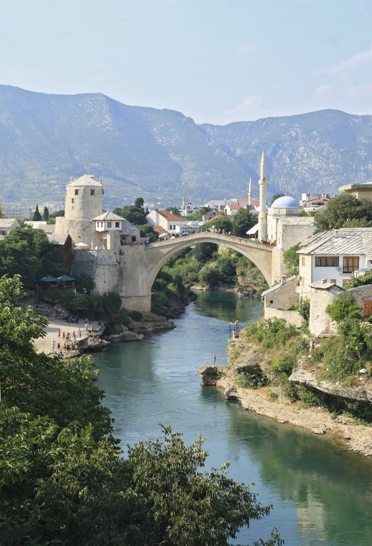 Bosnia & Hercegovina is one of Europe's less visited countries. Some enjoy diving from Mostar's Old Bridge into the water. Er, we think we'll just grab an icecream and watch...