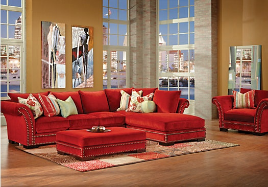 Cambrian park 3 pc sectional living room at rooms to go love our new home pinterest for Rooms to go cindy crawford living room