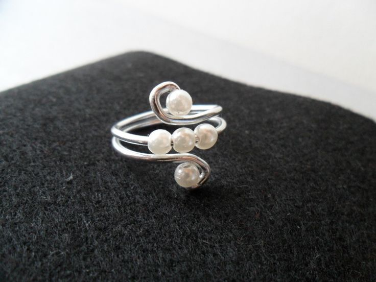 Wire And Pearls Ring  •  Make a wire ring in under 20 minutes
