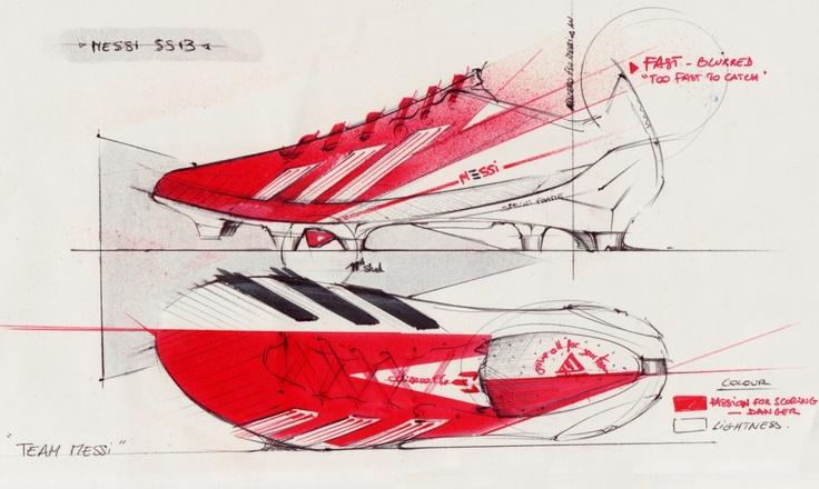 Messi boots concept art