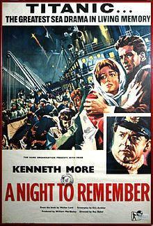 #CMLibrary Summer Film Series | Ships Ahoy!! 8 Classic Seafaring Films begins June 16, 2012 |  June 16: A Night to Remember (1958). Long before Leo and Kate locked eyes, the tragic tale of the Titanic was brought to the screen in this British production based on Sir Walter Lord's novel.