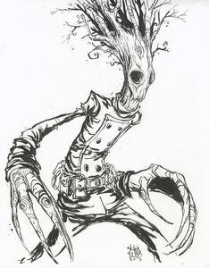 Image of Groot original art  by Skottie Young
