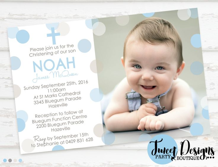 25+ unique Christening invitations ideas on Pinterest ...