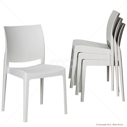 Set of 4 - Maya Chair - White