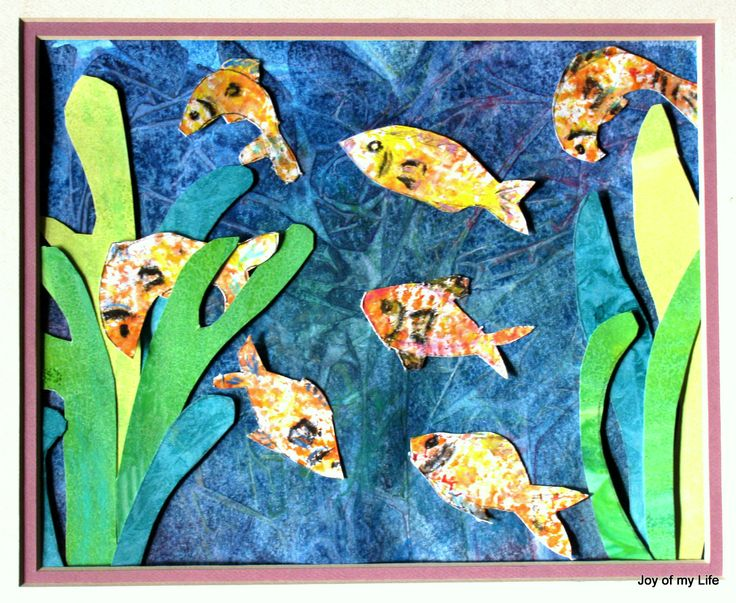 Kids Painted Fish 14 best Fish Collage f...