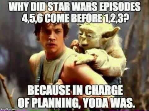 It all makes sense now<< Star Wars is actually considered an Epic, which is a story that begins 'en medias res'