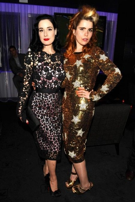 Dita Von Teese And Paloma Faith. My two favourite vintage style icons.
