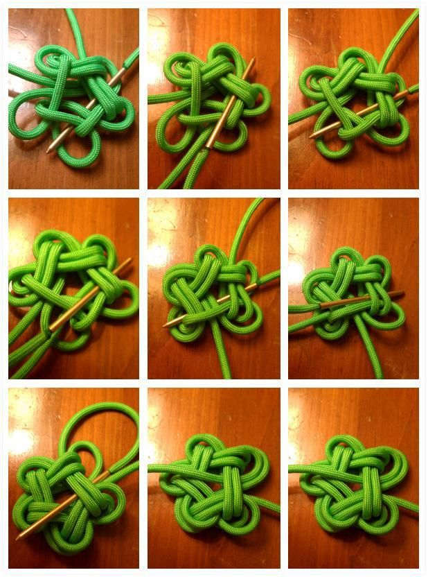 activity for xmas scout party. ornaments :) Star Knot 2 part 2