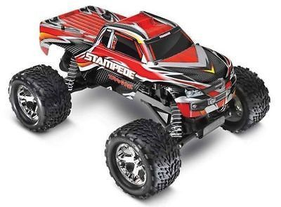This is the 1/10 scale electric powered, 2.4GHz radio controlled, Ready To Run Traxxas Stampede off-road Monster Truck with the XL-5 Electronic Speed Control. For ages 8 and above. FEATURES: Chassis: