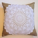 Lovely lace doily cushion