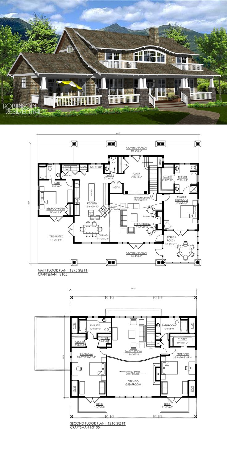 Craftsman I 3105 Dream House PlansHouse Floor