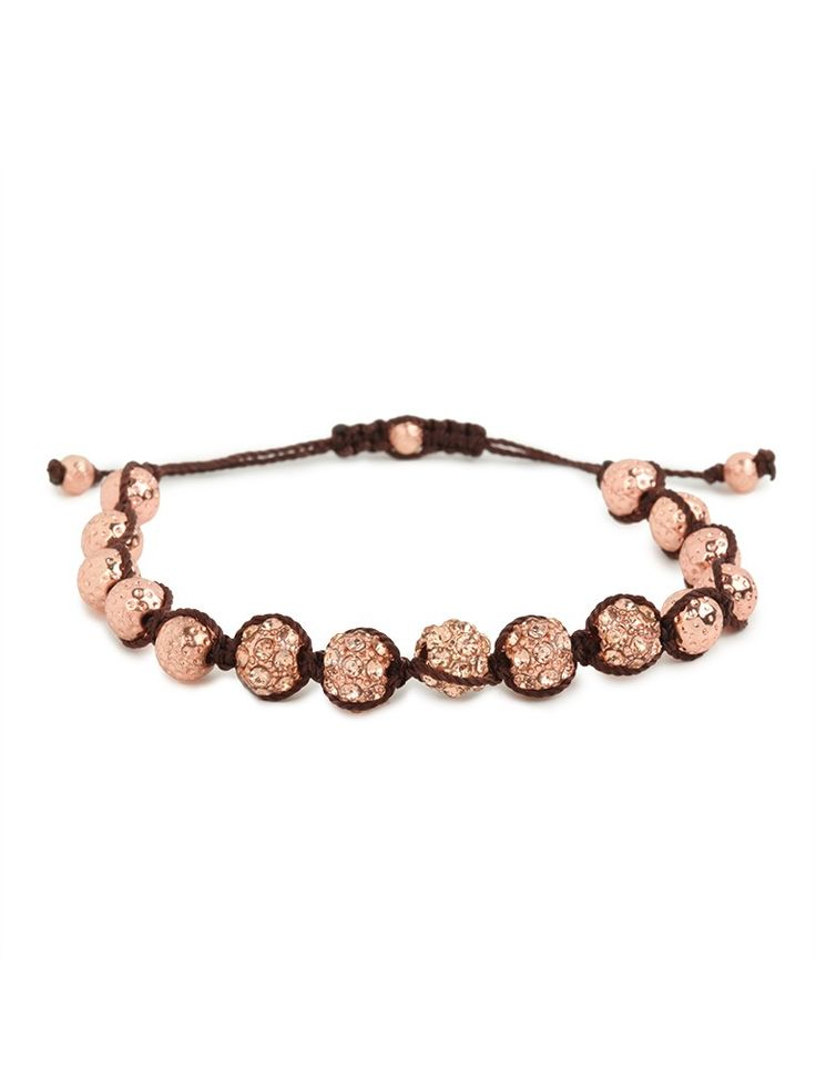 Bohemian glamour meets jet-set glitz! With those disco ball beads and the earthy vibe, this alluring bracelet is the best of both worlds.     Baublebar