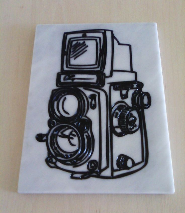 Old camera marble