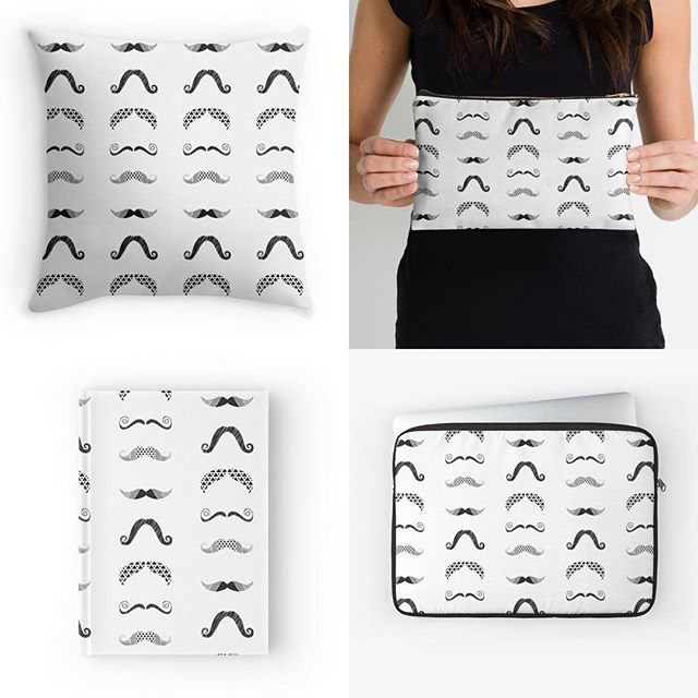 My designs now available on @redbubble :) Take a look http://www.redbubble.com/people/blackstage #BlackStage #textiledesign #fabriclove #graphic #mustache #movember #redbubble #redbubbleartist #instaart #instadesign #mug #pillow #case #notebook #bag #phonecase #monochrome #blackstagedesign