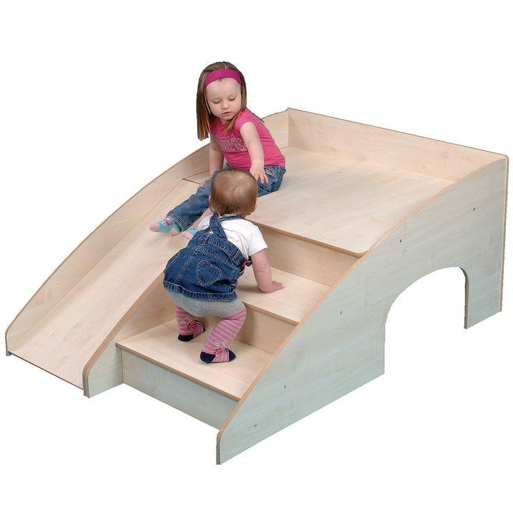 Wooden Indoor Slide And Hide