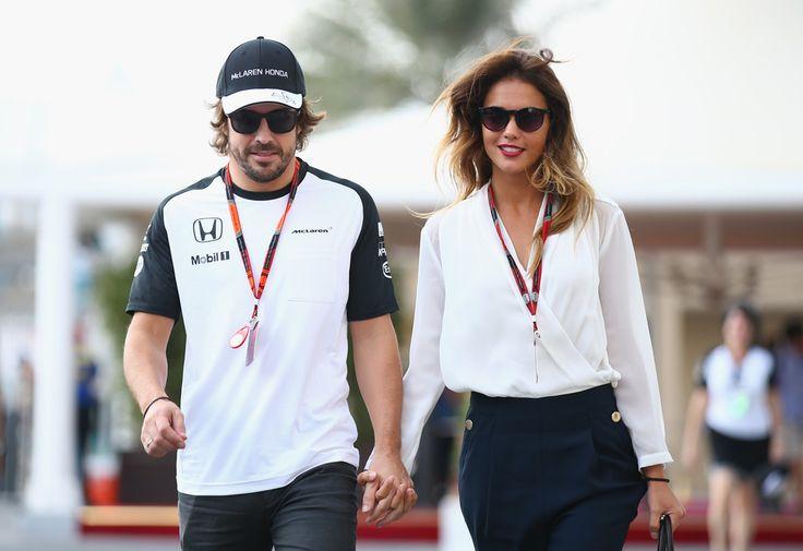 Fernando Alonso Photos - Fernando Alonso of Spain and McLaren Honda walks in the paddock with his girlfriend Lara Alvarez before final practice for the Abu Dhabi Formula One Grand Prix at Yas Marina Circuit on November 28, 2015 in Abu Dhabi, United Arab Emirates. - F1 Grand Prix of Abu Dhabi - Qualifying