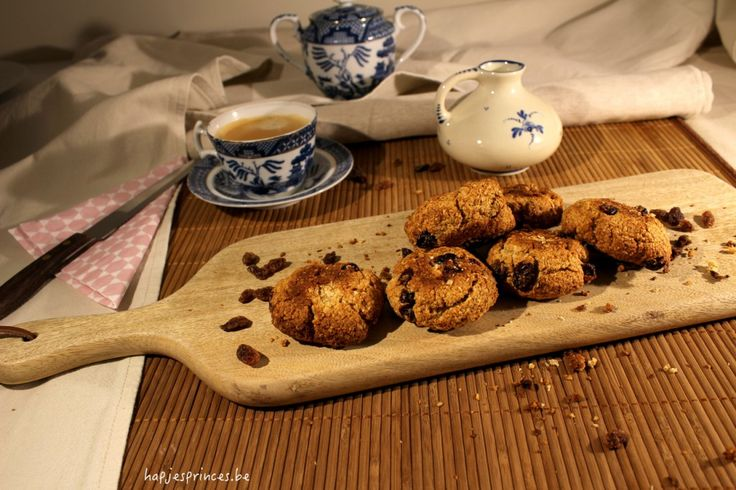cookies met havermout, kokos en cranberry's