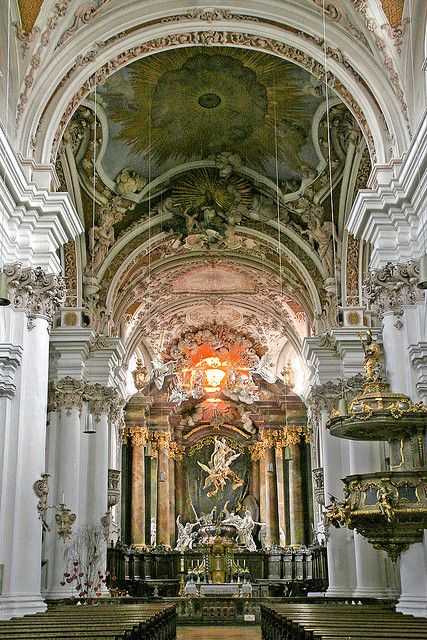 "Benedictine abbey Rohr - the rococo minster ""Mariae Himmelfahrt"" ,Bavaria, Germany"