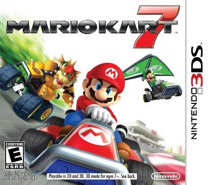Mario Kart 7 (Nintendo 3DS) (045496741747) The newest installment of the fan-favorite mario kart franchise brings mushroom kingdom racing fun into glorious 3-D. For the first time, drivers explore new competitive kart possibilities, such as soaring through the skies or plunging to the depths of the sea. New courses, strategic new abilities and customizable karts bring the racing excitement to new heights.