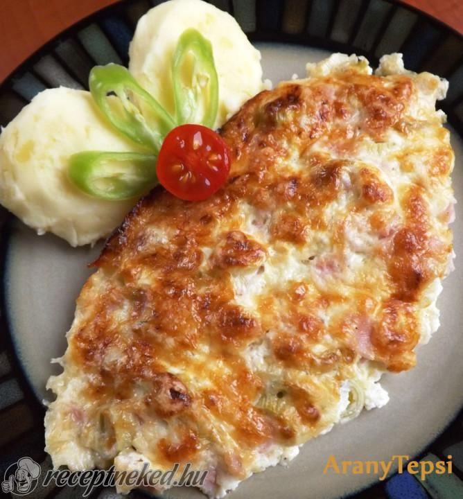 Sonkás-újhagymás csirkeszelet recept | Receptneked.hu (olcso-receptek.hu) - A legjobb képes receptek egyhelyen