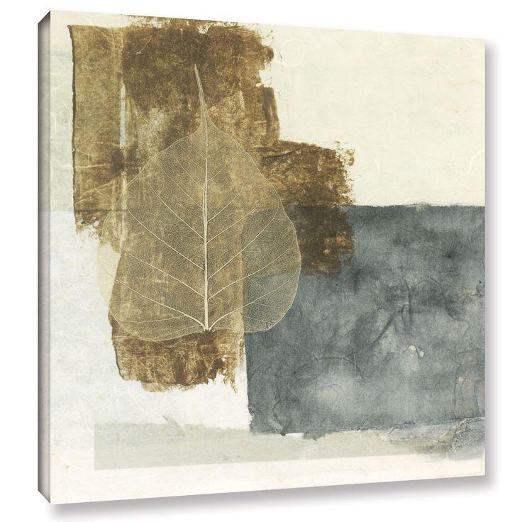 ArtWall Elena Ray 'Wabi-Sabi Bodhi Leaf Collage 5' Gallery-wrapped Canvas