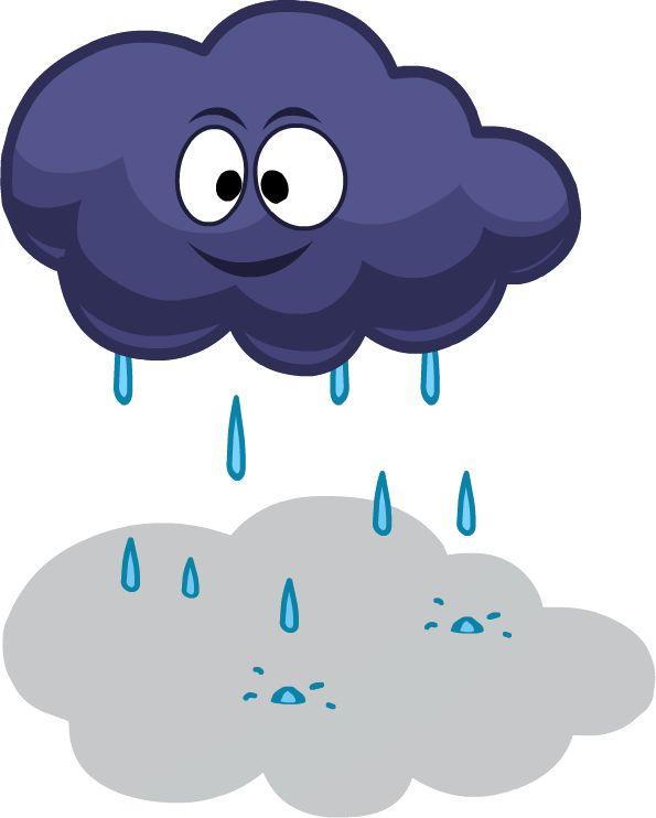 Картинка дождика не цветная