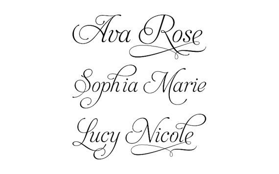 Custom Name Wall Decal First Name Wall Sticker by KeyReflection