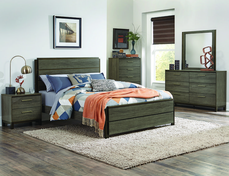 Homelegance Vestavia Collection Queen Size Bedroom Set 1936-1 (chest sold separately)