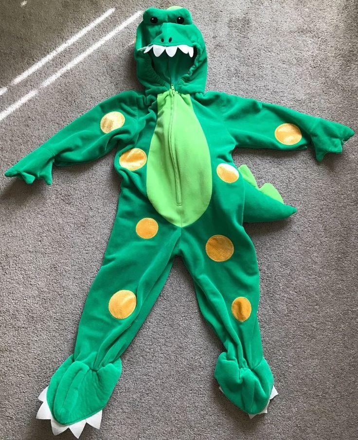 Miniwear Green Velour Dinosaur Halloween Costume Boys Girls 24 mos Plush Dragon #Miniwear #CompleteOutfit