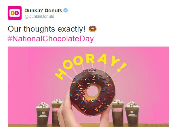 Great Twitter post from Dunkin Donuts in Denver, CO / Sympathique post Twitter de Dunkin Donuts in Denver, CO https://twitter.com/DunkinDonuts/status/618413270068797440