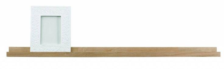 LEF collections Fotolijst plank 'Studio' bruin naturel onbehandeld eiken 120x5x10cm barefootstyling.com