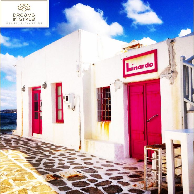 How about this colorful bar in Naoussa, Paros?  #paros #naoussa #greece #greekislands #islands #colors #pink #summer #weddingplanner #dreamsinstyle