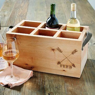 FEED Wood Wine Caddy