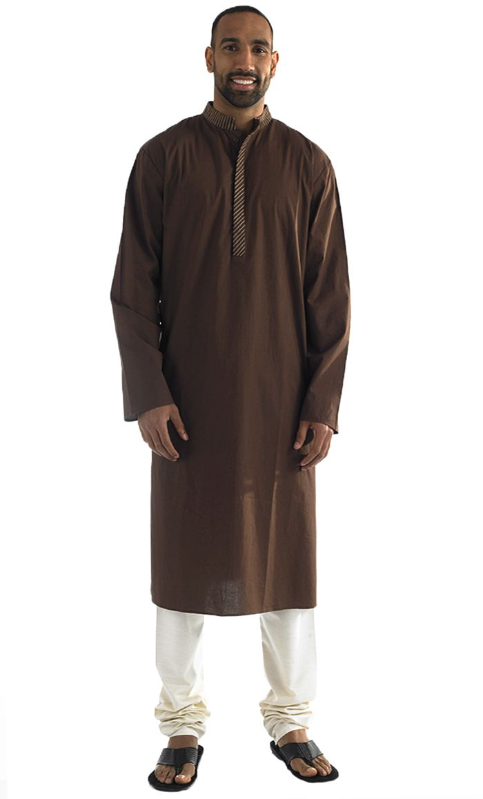 This men's Kurta tunic is simple and sophisticated. It comes with buttons from neck to chest. Fabric 100% Cotton Poplin